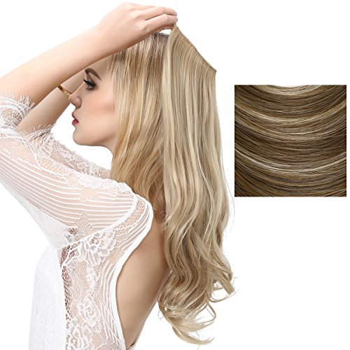 sarla halo synthetic hair extension flip in hairpieces. Black Bedroom Furniture Sets. Home Design Ideas