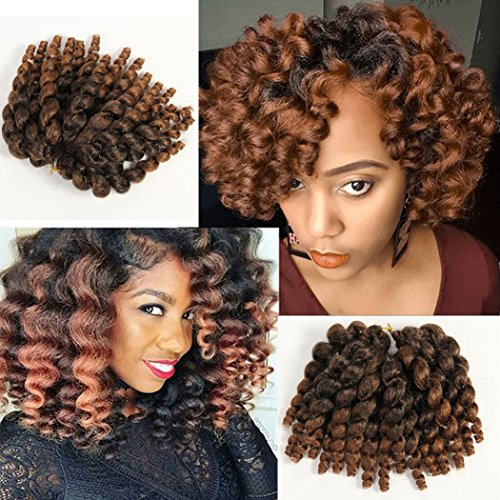 3 Packs 2x Ringlet Wand Curl Jamaican Bounce 8 Inch