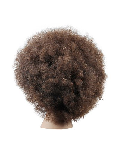 d3b6ffa82bd3e Mannequin Head African American with 100% Human Hair Cosmetology Afro Hair  Manikin Head for Practice. prev