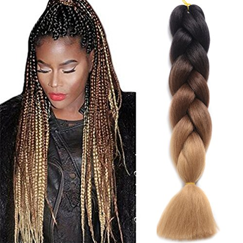 Ding dian synthetic braiding hair extensions kanekalon hair ombre braiding hair high temperature hair extensions prev pmusecretfo Images