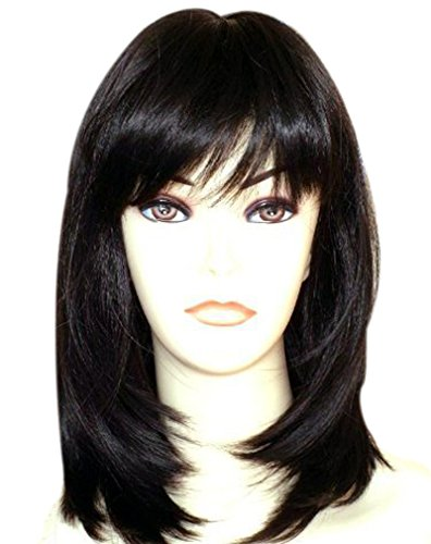 Kalyss Women s Wig Long Straight Layers Black Synthetic Hair wigs for Women  (black straight) edce9e10a6