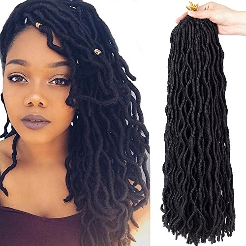 Wavy Faux Locs Crochet Synthetic