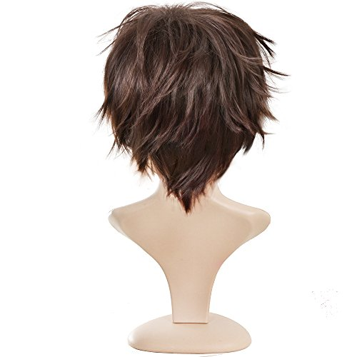 Ecvtop Wigs for Mens Death Note Male Short Hair Wig Costume Cosplay Wigs Blonde